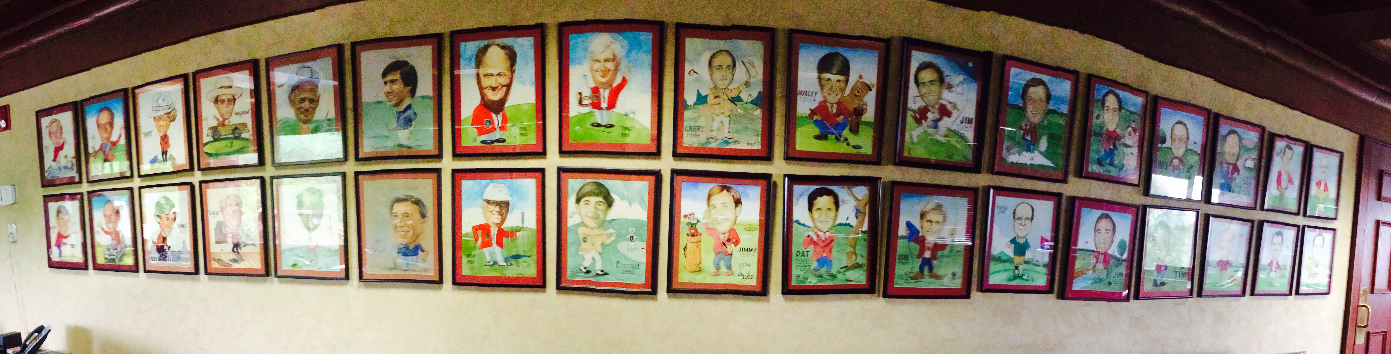Caricatures of Past Champions